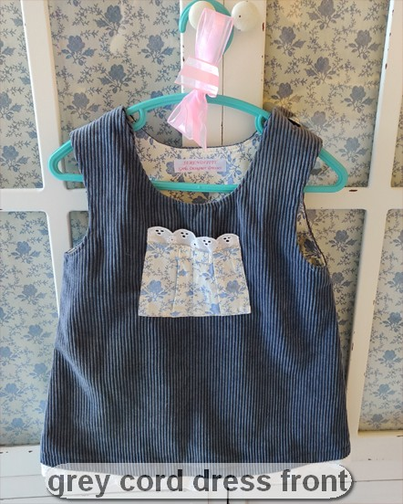 Grey Cord Dress by SerendipityGDDs for age 2