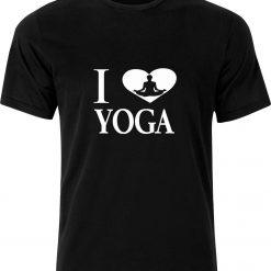 I Love Yoga 100% cotton t shirt
