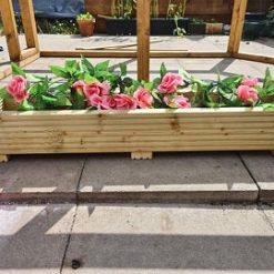 Large 90cm Long Wooden Decking Planter/window Box/trough/garden/herb/flower