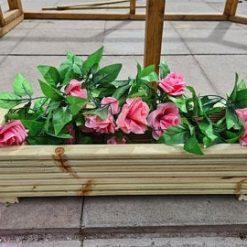 60cm Long Wooden Decking Planter/window Box/trough/garden/herb/flower