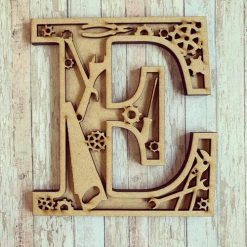 Tools personalised hand painted Letter/Initial wall plaque
