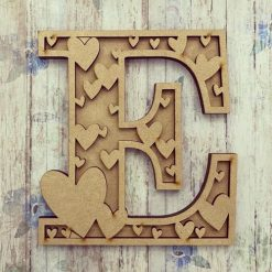 Hearts personalised hand painted Letter/Initial wall plaque