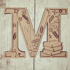 School personalised hand painted Letter/Initial wall plaque