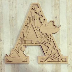 Swan personalised hand painted Letter/Initial wall plaque