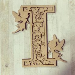 Fairy personalised hand painted Letter/Initial wall plaque