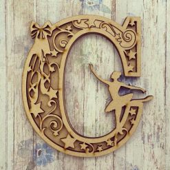 Ballerina, personalised hand painted Letter/Initial wall plaque