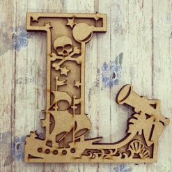 Pirate personalised hand painted Letter/Initial wall plaque