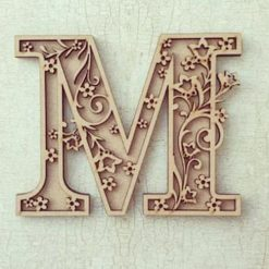 Flourished Flowers personalised hand painted Letter/Initial wall plaque