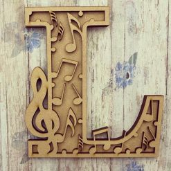 Music personalised hand painted Letter/Initial wall plaque