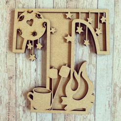 Campfire personalised hand painted Letter/Initial wall plaque