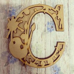 Painting personalised hand painted Letter/Initial wall plaque