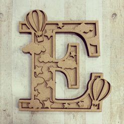Hot Air Balloon, personalised hand painted letter/initial wall plaque