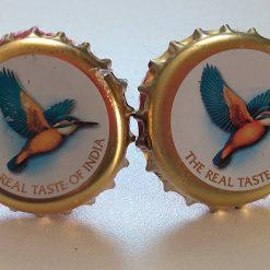 kingfisher bottle cap cufflinks