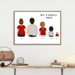 Personlized Family Portrait Digital Print  Gift