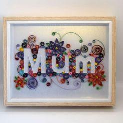 Paper Quilling Mum Frame