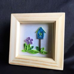 Paper Quilling Bird House Frame
