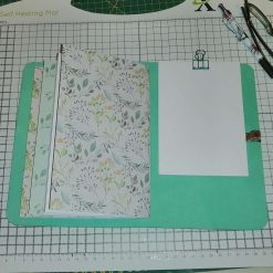 Genuine leather Journal  in a beautiful Jade Green