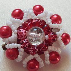 Red beaded brooch