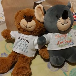 Personalised Soft Toy Mouse  and Teddy bear