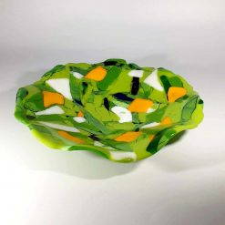 A Round of Robins Glass Dish