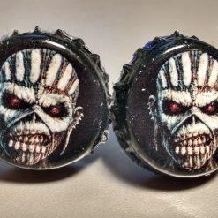 skull beer cap cufflinks
