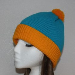 Blue Yellow Cartman, South Park Cosplay pompom beanie hat, Teenager upto Adult size