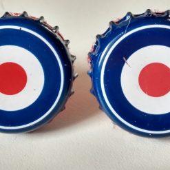 target style bottle cap cufflinks