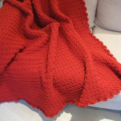 Crocheted Red Throw by SerendipityGDDs 1