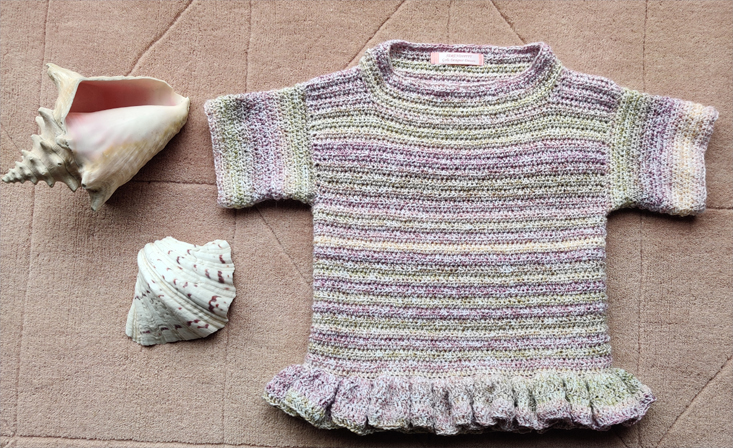 Viola Crocheted Tunic by SerendipityGDDs, for 7 or 8