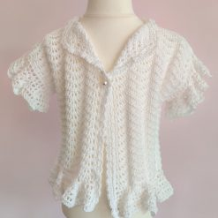 White Lace Cardigan by SerendipityGDDs, for Age 2