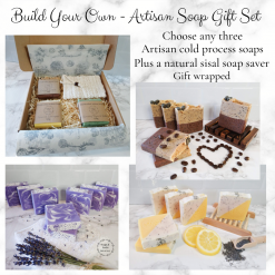 Build your own Artisan cold process soaps gift set, bathandbeauty ,luxury skincare ,handmade soaps ,cold process soap ,Artisan Soap ,vegan friendly ,free postage uk ,Cruelty free ,gift ideas ,gift set