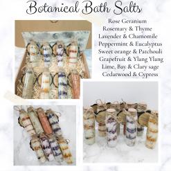 Botanical bath salts gift set ,bathandbeauty ,luxury skincare ,Bath treat ,vegan friendly ,free postage uk ,Cruelty free ,gift,gift ideas ,botanicals ,essential oils ,bath salts