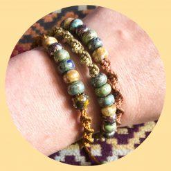 Macrame bracelets/anklets