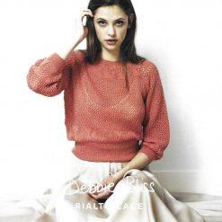 Womens Diamond Lace Sweater Knitting Pattern • PDF Download