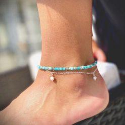 Turquoise Jasper Anklet