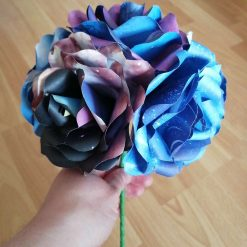 Cosmic space paper flower roses bouquet