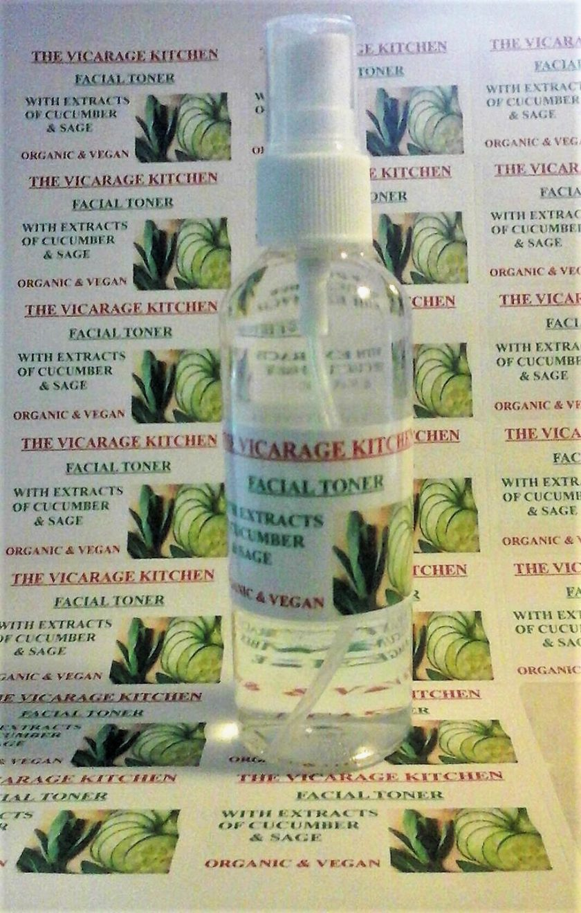Organic Facial Cleanser & Toner, Freshener Spritz With Cucumber & Sage Extracts 125ml (CPSR)