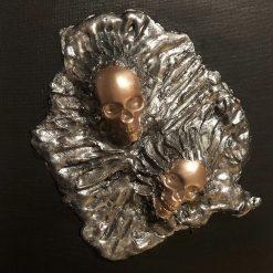 Skull Canvas 3D (Bronze)