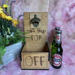 Bespoke Bottle opener for outside or indoor - Take you Top off!
