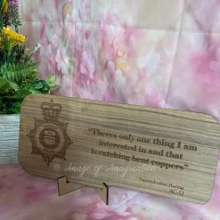 Line of Duty - LOD - Bent coppers quote wooden plaque