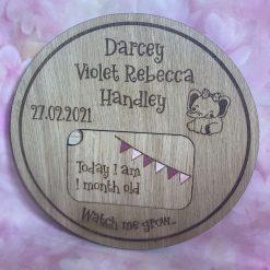 Baby Milestone personalised keepsake Bundle