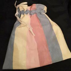 Wash bag Pink stripe