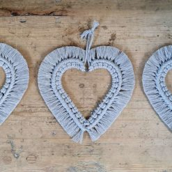 Macrame Small hanging hearts-colours and size can be customised...please see description