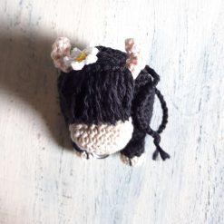 Crochet Bull Brooch