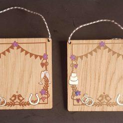 Anniversary/Wedding personalised wooden keepsake
