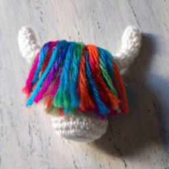 Crochet Cow Brooch