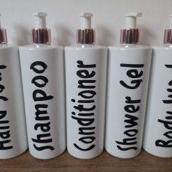 500ml personalised pump bottles