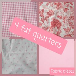 Fat quarters fabric.  Pink collection.  Set of 4