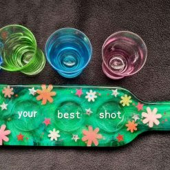 Resin Shot Glass Paddle - Colours Customisable