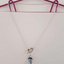 Double Wrap Black Leather Charm Bracelet - B38